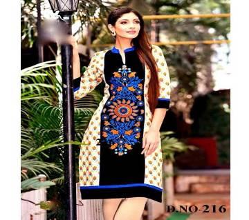 Unstitched Black Cotton Salwar Kameez For Women
