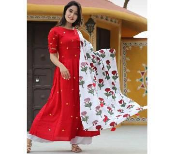 Doller Red Salwar Kameez for Women