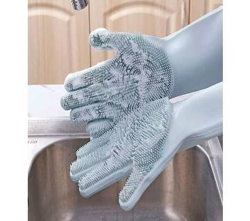 Silicone Cleaning Gloves with Wash