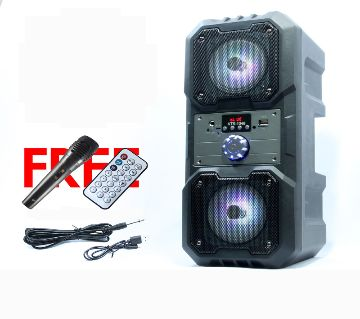 Rechargeable Karaoke Bluetooth Speaker With Microphone
