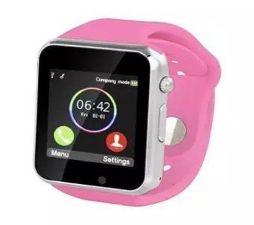 A1 Bluetooth  Smart Watch  Pink  MKC1