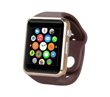1 Bluetooth Smart Watch Sim supported Smart Watch  (Brown)  MKC1