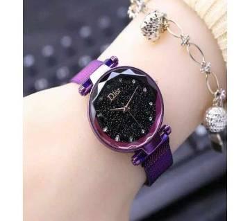 Dior Magnetic chain ladies wristwatch Purple06  SFH