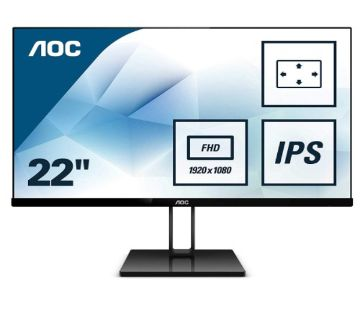 AOC 22V2Q 21.5 inch Full HD Borderless FlickerFree IPS Monitor