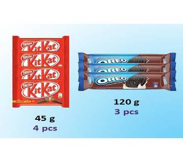 Kitkat & Cadbury Oreo Biscuit  India