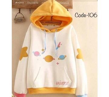 Ladies Full Sleeve Winter Hoodie