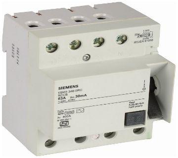 Siemens Plastic 63 Ampere 4 Pole RCCB, [4 phase]