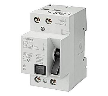 Siemens Plastic 63 Ampere 2 Pole RCCB, [single phase]