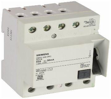 Siemens Plastic 25 Ampere 4 Pole RCCB, [4 phase]