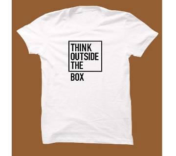 White Cotton Short Sleeve T-Shirt for Men WTS009