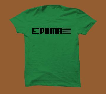 Green Short sleeve T-shirt for men.