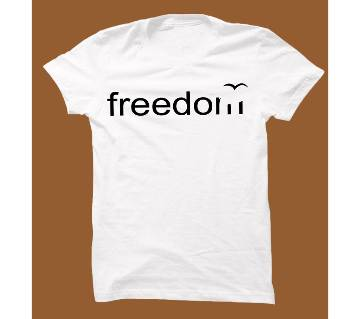 White Cotton Short Sleeve T-Shirt for Men WTS002