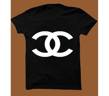 Black Cotton Short Sleeve T-Shirt for Men BTS004
