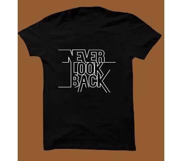 Black Cotton Short Sleeve T-Shirt for Men BTS005