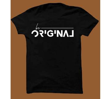 Black Cotton Short Sleeve T-Shirt for Men BTS006