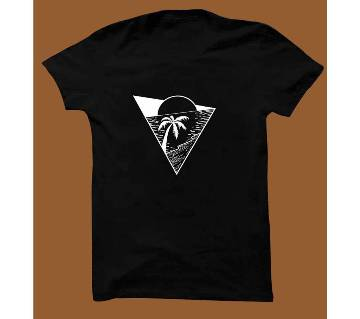 Black Cotton Short Sleeve T-Shirt for Men BTS007