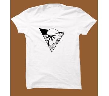 White Cotton Short Sleeve T-Shirt for Men WTS006
