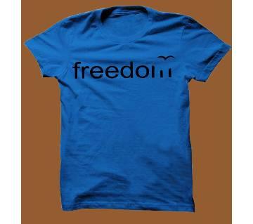 Royel Blue Cotton Short Sleeve T-Shirt for Men RBTS001