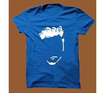 Royel Blue Cotton Short Sleeve T-Shirt for Men RBTS003