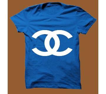 Royel Blue Cotton Short Sleeve T-Shirt for Men RBTS004