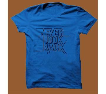 Royel Blue Cotton Short Sleeve T-Shirt for Men RBTS010
