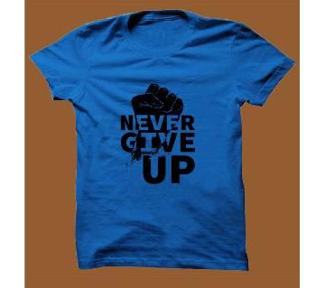 Royel Blue Cotton Short Sleeve T-Shirt for Men RBTS014