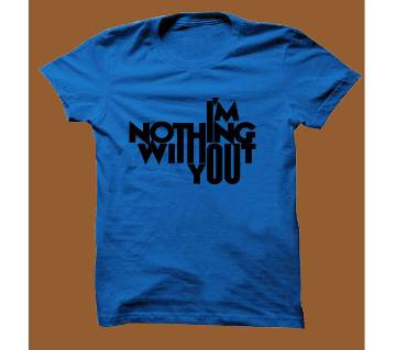 Royel Blue Cotton Short Sleeve T-Shirt for Men RBTS019