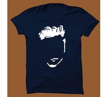 Navy Blue Cotton Short Sleeve T-Shirt for Men NBTS001