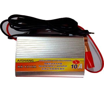 12V- 10A Intelligent Smart LCD Display Three Phase Power Battery Charger