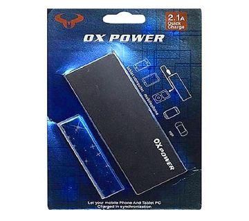 OX Dual USB Power Bank  12000 mAh