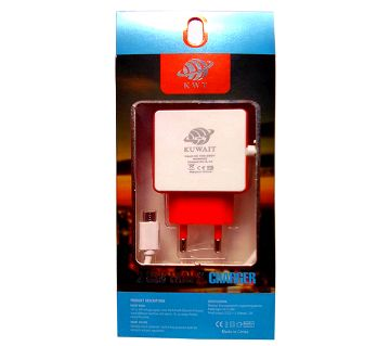 2 USB Port TRAVEL FIRST CHARGER-KWT