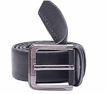 Menz Artificial Leather Formal Belt- Black