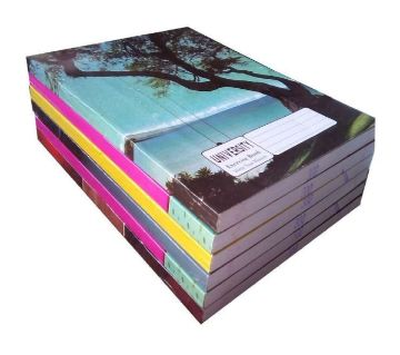 University Note Book Khata (Math)  200 Pages - 6pcs
