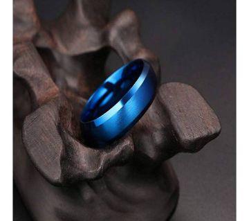 MENS METALIC FINGER RING BLUE