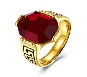 Golden Metal Finger Ring for Man