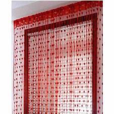 Handloomhub Red Heart Net Curtain