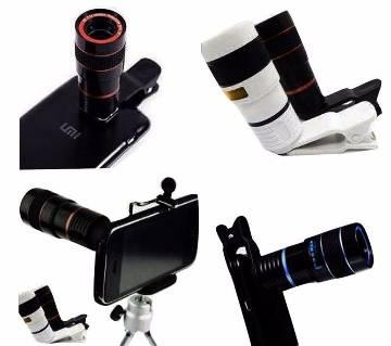 8X ZOOM mobile clip lens