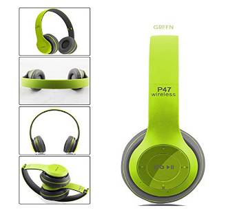 P47 - Wireless Bluetooth Headphone - Green Copy