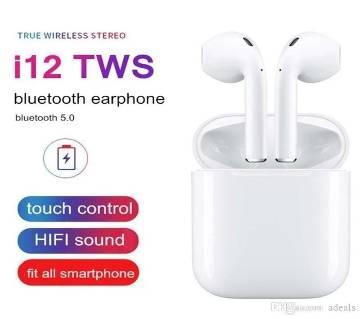i12 Tws Wireless Bluetooth 5.0 Stereo Earphone Touch Control Headphones