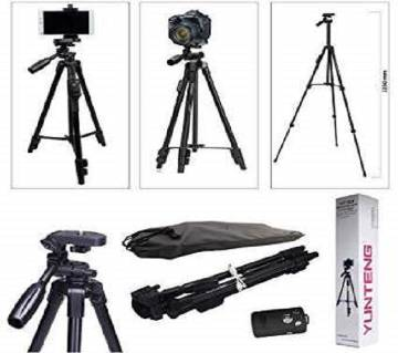 Selfie Video YUNTENG VCT 5208 RM Aluminum Tripod with 3-Way Head & Bluetooth Remote