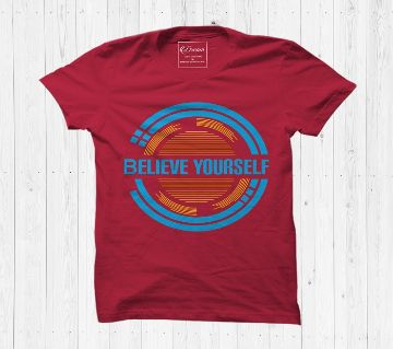 Belive Yourself Cotton Half Sleeve T Shirt For Men