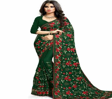 Weightless Georgette Party Saree With Blouse Piece