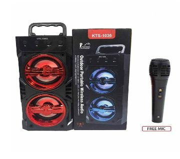 Stereo Dual Speaker Portable Wireless With Mic