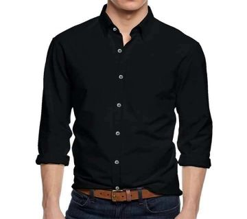 Black Long Sleeve Casual Shirt for Men