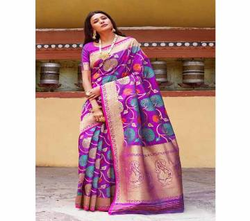 Rajtex Kunika Soft Minari Silk Saree With blouse Piece