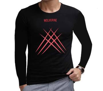 Wolverine Claw - XMAN ফুল স্লিভ জেন্টস টি-শার্ট