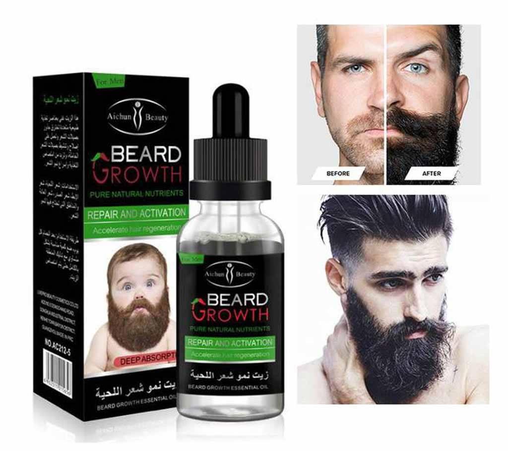 Aichun Beauty Beard Growth Essential Oil 30ml - Thailand বাংলাদেশ - 1075779