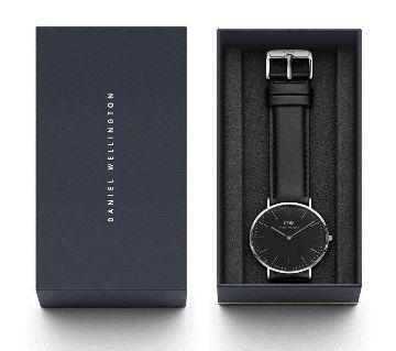 Pu Leather analog wrist watch -Black (Copy)