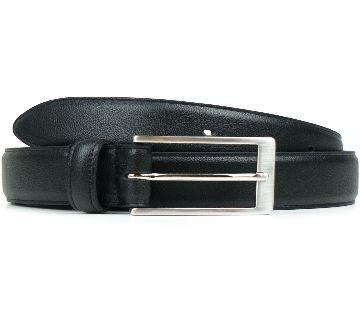 black Pu lather formal belt for men