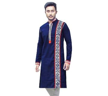 Fashionable Printed Gents Semi Long Punjabi